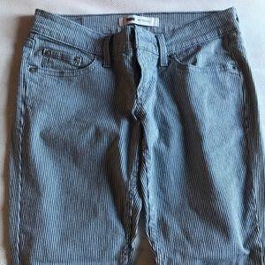 Train-conductor Striped Levi Skinny Jeans